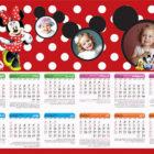 تقویم اختصاصی دیواری کودک طرح میکی موس کد ۱۲