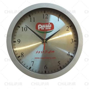 نمونه ساعت تبلیغاتی کلاسیک صفحه فلزی