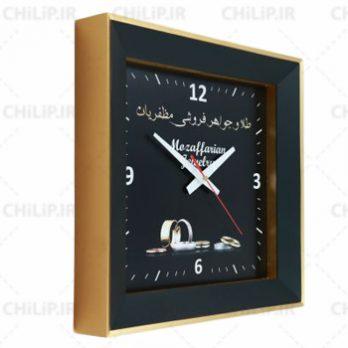 ساعت تبلیغاتی دیواری مدل دیاموند ۴ گوش