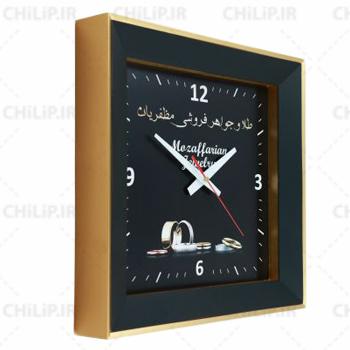 ساعت تبلیغاتی دیواری مدل دیاموند 4 گوش