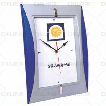 ساعت تبلیغاتی دیواری مدل نگین ۲
