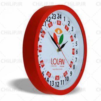 ساعت تبلیغاتی دیواری مدل ۲۴ ساعته