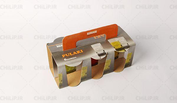 بسته بندی لیوان شرکت بلور و شیشه کاوه