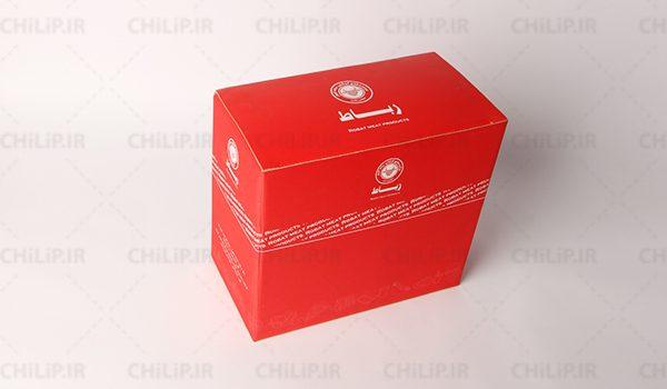 طراحی جعبه بسته بندی محصولات شرکت رباط