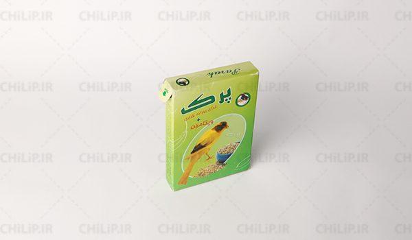 طراحی بسته بندی غذای قناری پرک