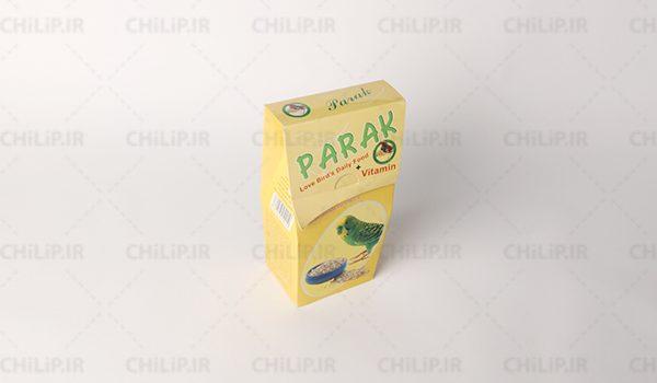طراحی بسته بندی غذای مرغ عشق پرک