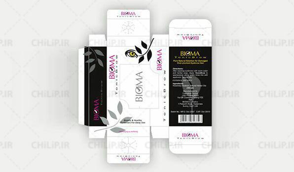 طراحی بسته بندی شرکتی محصول بیوما