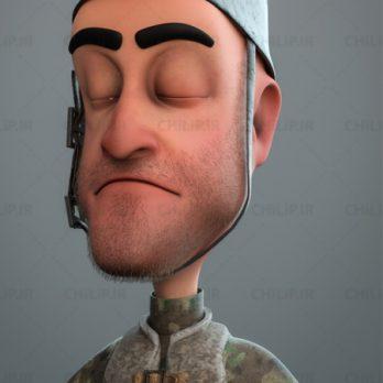 مدل سه بعدی سرباز فانتزی ، تکسچر شده | fantezy soldier 3D model