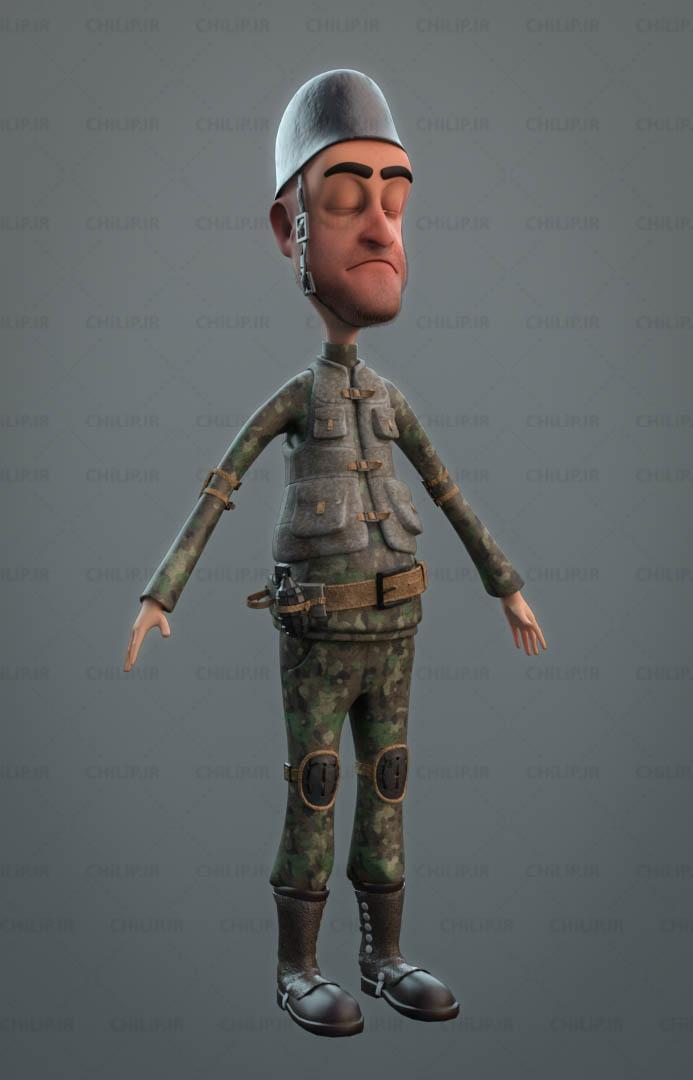 مدل 3D سرباز فانتزی
