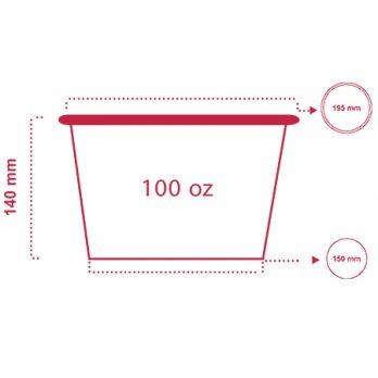 سطل پاپ کورن ۱۰۰ انس با چاپ اختصاصی
