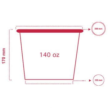 سطل سوخاری ۱۴۰ انس با چاپ اختصاصی