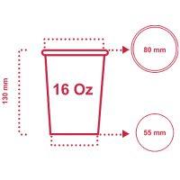 لیوان کاغذی 480 سی سی | 16 اونس