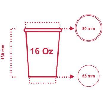 لیوان کاغذی ۴۸۰ سی سی (۱۶ اونس) با چاپ اختصاصی