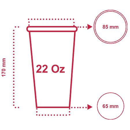 لیوان کاغذی 650 سی سی