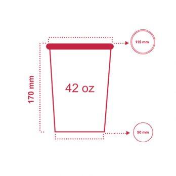 لیوان پاپ کورن ۴۲ انس با چاپ اختصاصی