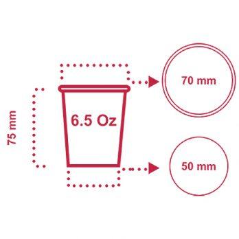 لیوان کاغذی ۱۸۰ سی سی (۶٫۵ اونس) با چاپ اختصاصی