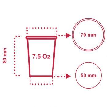 لیوان کاغذی ۲۰۰ سی سی (۷٫۵ اونس) با چاپ اختصاصی