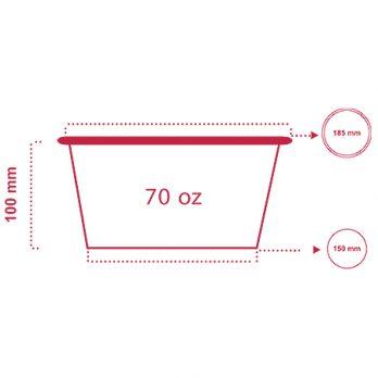 سطل سوخاری ۷۰ انس با چاپ اختصاصی