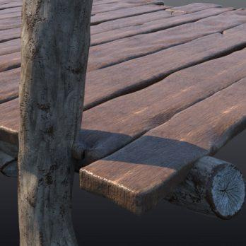 مدل سه بعدی چوب و تخته تکسچر شده با کیفیت بالا