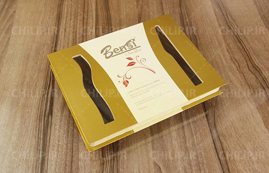 طراحی و چاپ بسته بندی کارد و چنگال بنسی
