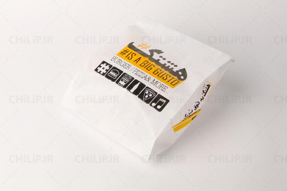 طراحی پاکت فست فود | پاکت ساندویچ | پاکت همبرگر | پاکت هات داگ | پاکت بیرون بر